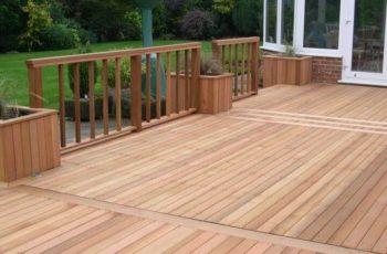 Western red cedar decking in Wylie